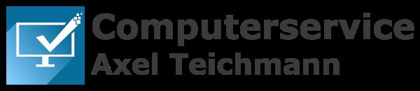 Logo PC Laptop Computerservice Chemnitz mit Schriftzug dunkel transparent 600x130